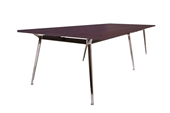 BOARDROOM TABLE RAPID AIR 2400WX1200DX750HMM SINGLE STAGE POLISHED ALUMINIUM BASE CHERRY TOP