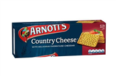 BISCUIT ARNOTTS CRACKERS COUNTRY CHEESE 250GM