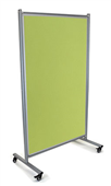 PINBOARD MOBILE VISIONCHART 1000X1800MM DOUBLE SIDED VELOUR LIME