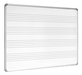 WHITEBOARD VISIONCHART VMB1812 1800X1200MM MUSIC